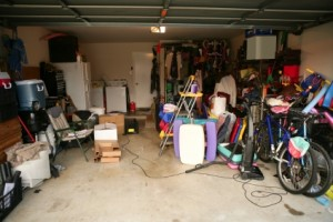 Garage full of unused stuff